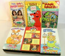 6 Children's VHS Arthur, Clifford, The Magic School Bus, Mary Kate and Ashley