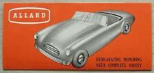 ALLARD K3 TOURING (3/4 SEATER) Car Sales Leaflet Brochure c1954