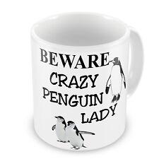 Beware Crazy Penguin Lady Novelty Gift Mug