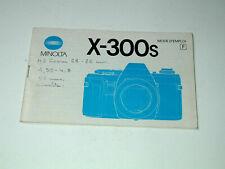 X-300s MINOLTA notice en français photo photographie