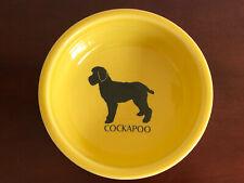 Homer Laughlin Fiesta Cockapoo Cereal Bowl Yellow Dog