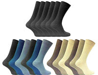 6-12-  24 PAIR  MENS GENTLE GRIP SOCK - LOOSE TOP  SOCKS - 100% COTTON SOCKS