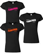 Addison Rae Ladies Merch Youth Dance Womens Girls Neon T shirt YouTuber Tee Top