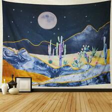 "Nature Tapestry Cactus Moon Landscape 51"" x 59"" Decorative Wall Hanging"