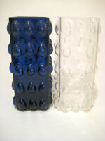 2 Mid Century Bubble Glass Vases  Space Age  Glas Vasen  Vintage Interior