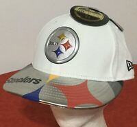 New Era Pittsburgh Steelers NFL Low Profile 59FIFTY Fitted Sz 7 1/8 CAP HAT NWT!
