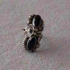 New Vintage Native American Black Onyx Women's Ring Size 6.5 Gawdy Ornate Wow