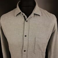 Diesel Mens THICK SHIRT Light Jacket MEDIUM Long Sleeve Grey Regular Fit  Cotton