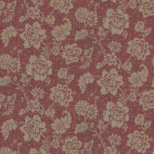 casa delle bambole ORO motivo floreale su bordeaux tessuto stile STAMPA