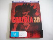 Godzilla 3D (2014) - JB Hi-Fi Limited Steelbook Blu-Ray Region B | Rare