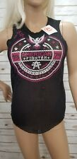 American Fighter Women's Loose Mesh Black Tank Top Size Small NWT