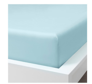❣️ IKEA Dvala Light Blue King Fitted Sheet, Bed Sheet 150 x 200 x 26cm New ❣️