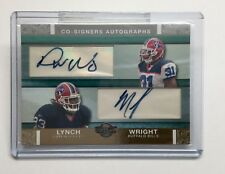 2007 Topps Co-Signers Dwayne Wright & Marshawn Lynch  04/10 Dual Auto Card