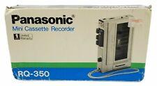 Vintage Panasonic Mini Cassette Recorder Player RQ-350 Original Box Tested