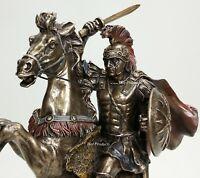 "13"" Alexander The Great on Horse Greek King Statue Bronze Finish Sculpture"