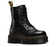 Dr Martens Jadon Black Polished Smooth Double Platform Sole Boots