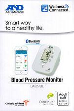 A&D Medical Digital Upper Arm Blood Pressure Monitor UA-651BLE BLUETOOTH SMART