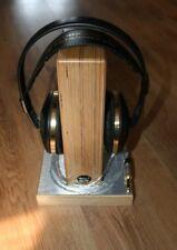 Oscarsaudio Auriculares Soporte Abedul Capa Edición Limitada Cepillado Plateado