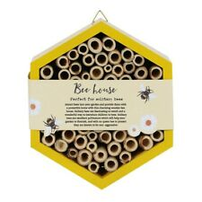 Wooden Yellow Honeycomb Bee House / Hotel / Hive 4 Solitary Bees