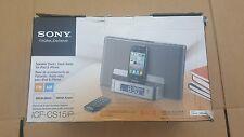 Sony ICF-CS15iP  w/ Remote Dream Machine Speaker Dock Clock Radio iPod iPhone