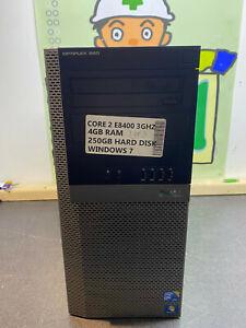 DELL OPTIPLEX 960 INTEL CORE 2 DUO E8400 3GHz 4GB 250GB Windows 7 Cheap TOWER UK