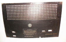 Old Radio Back Panel Bel Ami Ahs 6823-C Vintage To 1949 Replacement Part