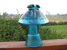 Exceptionally Nice Hemingray Blue Aqua Coolie Hat Two Piece Montana Insulator