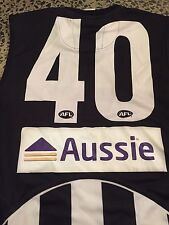 ** AFL COLLINGWOOD MAGPIES PLAYER ISSUE JUMPER GUERNSEY SWAN CLOKE PENDELBURY **