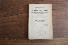 Mémoire sur la vie de l'abbé de FARIA - D.G. DALGADO - IF, Monte Cristo - 1906