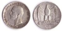 1929 Vittorio Emanuele III Lire 5 Aquilotto Circolata. Argento Vedi Foto