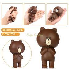 12CM Jumbo Kawaii Squishy Rilakkuma Bear Cartoon Slow Rising Cellphone Strap 1pc