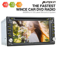 PUMPKIN Double 2 DIN Car Radio DVD GPS Head Unit Bluetooth Sat Navi USB RDS SD