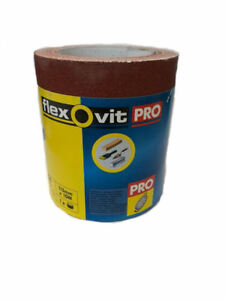 Flexovit Pro By Norton High Performance Sandpaper Roll 115mm x 10m 120 Grit