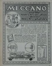 PUBLICITÉ DE PRESSE 1926 MECCANO ÉVEILLE TOUTES LES VOCATIONS