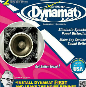 Dynamat 10415 Xtreme Speaker Kit Two 10-in. x 10-in. Sheets 1.38 sq.ft
