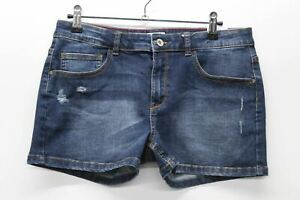 MAYORAL Girl's Blue Cotton Blend Denim Adjustable Waist Shorts 18 Years BNWT