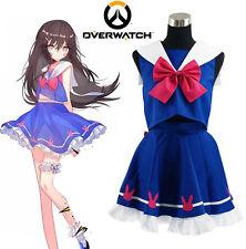 Game Overwatch Hana Song OW D.Va Sailor School Uniform Cosplay Costume Customize
