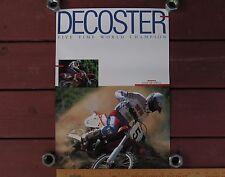 1989 ROGER DeCOSTER HONDA Original POSTER Vintage Motocross CR125R CR250R CR500R
