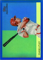 2010 Topps Chrome National Chicle Blue Refractors #CC44 Chase Utley /199
