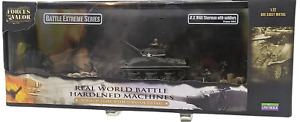 Forces of Valor 1/72 1944 US Army M4A1 Sherman w/ 8 soldiers, France WWII  85324