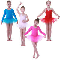 3-9 Years Children Girls Kids Tutu Dress Ballet Dance Dresses Costumes Skirts