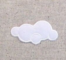Small Cloud - White/Fluffy - Nature - Iron on Applique/Embroidered Patch