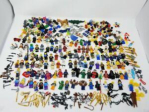 Huge LEGO Minifigures Lot w/ weapons & Accessories * Star wars Marvel DC Comics