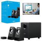 3 PC Logitech Multimedia Speaker System Desktop Portable Home Speakers Z213 2.1