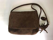 Unbranded Genuine Suede Leather Coachella Festival Brown Crossbody Hobo Bag