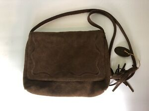 Unbranded Genuine Suede Leather Coachella Festival Brown Crossbody hippy Bag