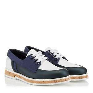 """New $750 JIMMY CHOO London Men's FINN Boat Shoes Italy Sz 42.5 INsole 11"""""""