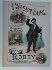 music hall song art cover GEORGE ROBEY i wasn`t sure