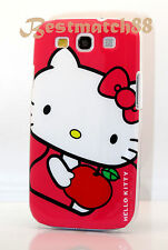 FOR SAMSUNG GALAXY S3 PHONE HOT PINK WHITE RED kitty kitten HARD CASE /S III