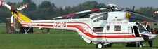 W-3 Sokol Falcon Poland PZL-Swidnik Helicopter Mahogany Wood Model Large New